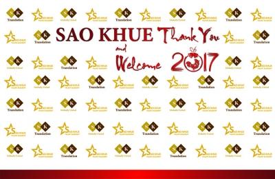 """Tiệc tất niên với chủ đề """"SAO KHUE THANK YOU AND WELCOME 2017"""""""