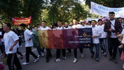 Sao Khue Talent Academy sponsors the Hanoi Run for Children (HRC) on December 6, 2015